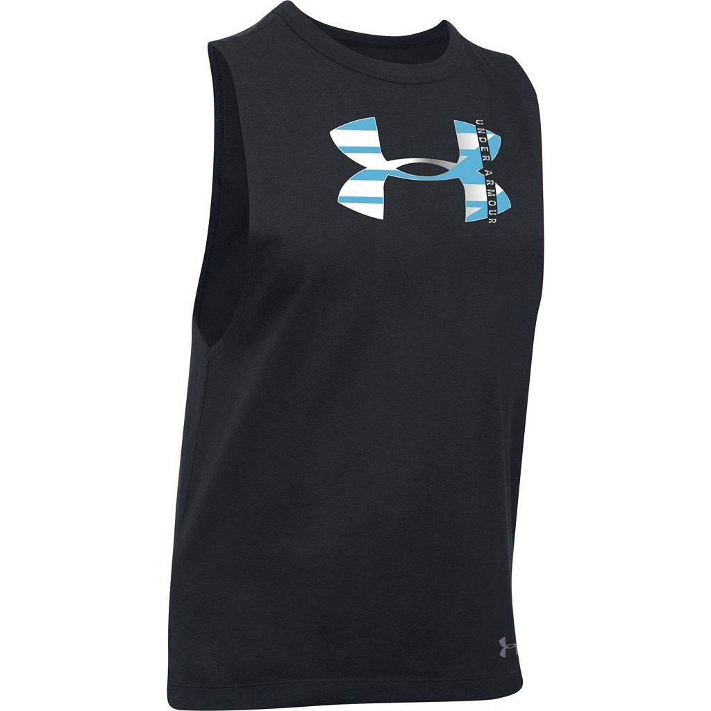 Women's Under Armour Big Logo Metallic Muscle Graphic Tank