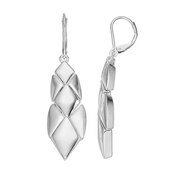 Dana Buchman Geometric Nickel Free Linear Drop Earrings