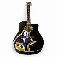 Woodrow Baltimore Ravens Acoustic Guitar