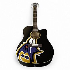 Woodrow Baltimore Ravens Acoustic Guitar