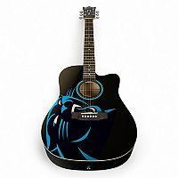 Woodrow Carolina Panthers Acoustic Guitar