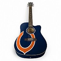 Woodrow Chicago Bears Acoustic Guitar