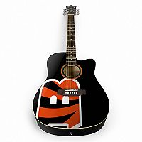 Woodrow Cincinnati Bengals Acoustic Guitar