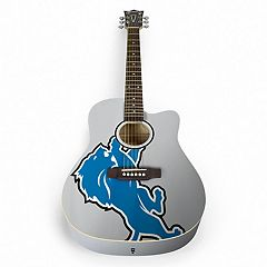 Woodrow Detroit Lions Acoustic Guitar