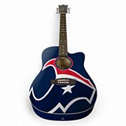 Woodrow Houston Texans Acoustic Guitar