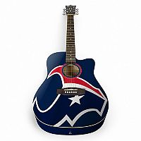 Woodrow Houston Texans Acoustic Guitar