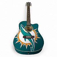 Woodrow Miami Dolphins Acoustic Guitar