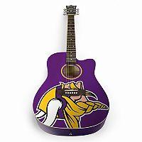 Woodrow Minnesota Vikings Acoustic Guitar