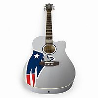 Woodrow New England Patriots Acoustic Guitar