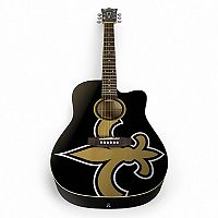 Woodrow New Orleans Saints Acoustic Guitar