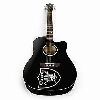 Woodrow Oakland Raiders Acoustic Guitar