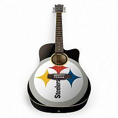 Woodrow Pittsburgh Steelers Acoustic Guitar