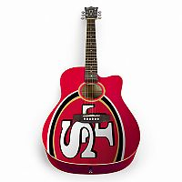 Woodrow San Francisco 49ers Acoustic Guitar