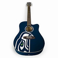 Woodrow Seattle Seahawks Acoustic Guitar