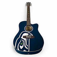 Woodrow Seattle Seahawks Acoustic Guitar