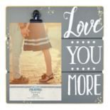 "New View ""Love You More"" 4"" x 6"" Photo Clip Frame"