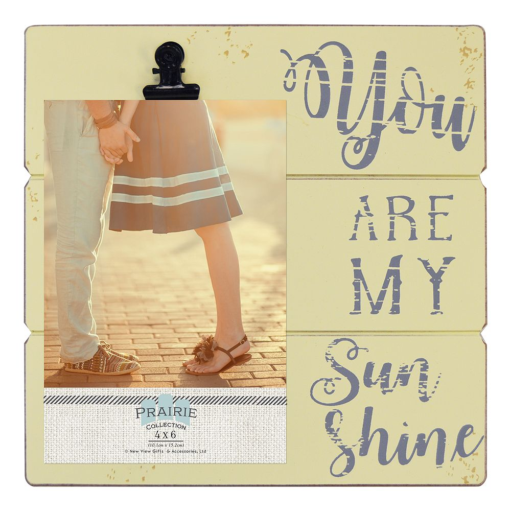 New View My Sunshine 4 X 6 Photo Clip Frame