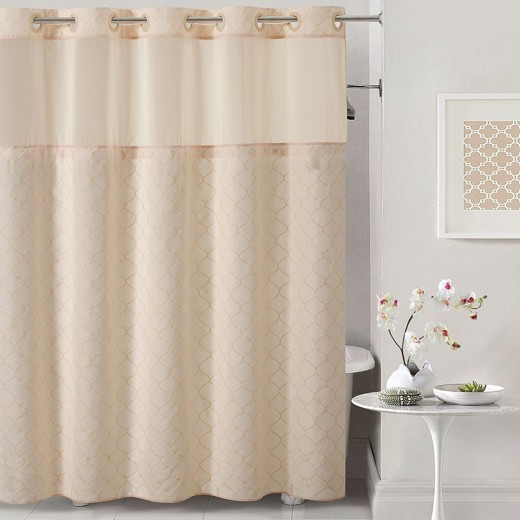 Hookless Mosaic Shower Curtain & Liner