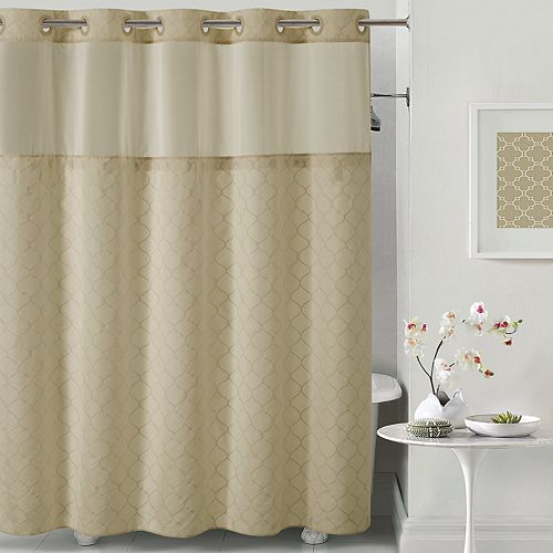 Hookless Mosaic Shower Curtain Liner