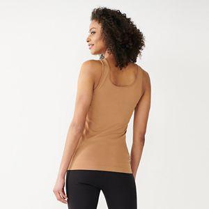 Women's Apt. 9® Essential Reversible Neckline Seamless Tank