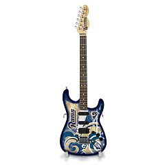 Woodrow Los Angeles Rams NorthEnder Collector Series Mini Replica Electric Guitar