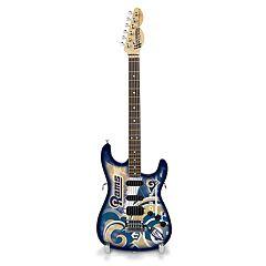 Woodrow Los Angeles Rams NorthEnder Collector Series Mini Replica Electric Guitar