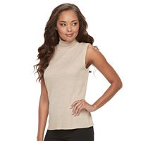 Petite Dana Buchman Sleeveless Turtleneck Top