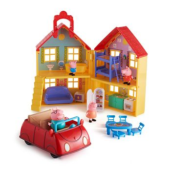 Peppa Pig House Car Deluxe Family Pack