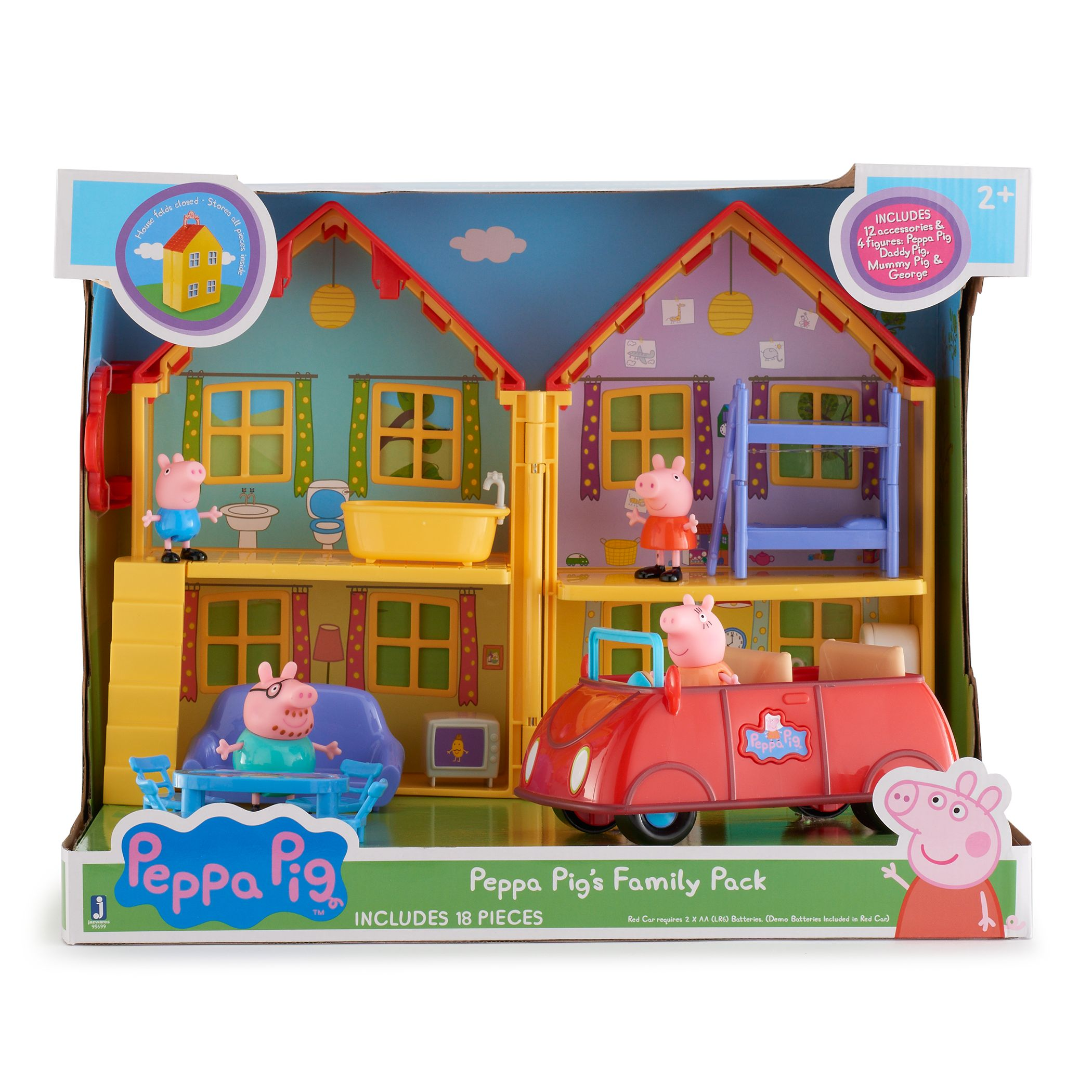 Peppa Pig House U0026 Car Deluxe Family Pack