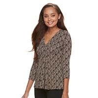 Petite Dana Buchman Release Pleat Top
