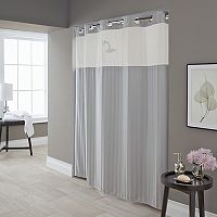 Hookless Park Avenue Stripe Shower Curtain & Liner