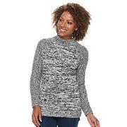 Petite Croft & Barrow® Mockneck Cable Sweater