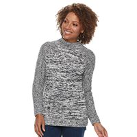 Petite Croft & Barrow® Mockneck Cable Sweater