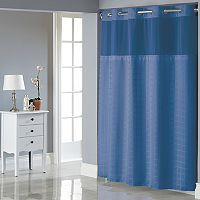 Hookless Square Tile Shower Curtain & Liner