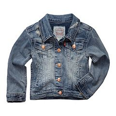 Toddler Girls Levi's Distressed Denim Trucker Jacket
