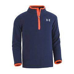 Boys 4-7 Under Armour 1/4-Zip Fleece Navy Lightweight Pullover