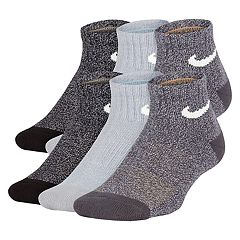 Boys 4-20 Nike 6-Pack Training Quarter Socks