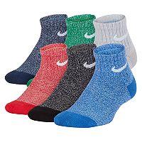 Boys 4-20 Nike 6-Pack Training Quarter Socks