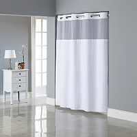 Hookless Jacquard Shower Curtain & Liner
