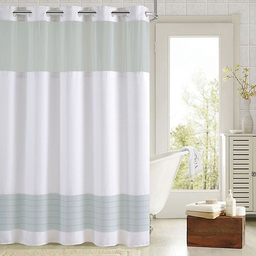 Hookless Colorblock Shower Curtain & Liner