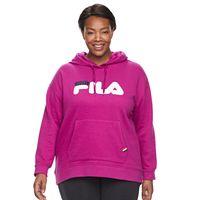 Plus Size FILA SPORT Applique Logo Hoodie