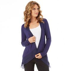 Women's Apt. 9® Chiffon Trim Cardigan