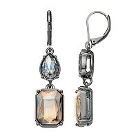 Simply Vera Vera Wang Nickel Free Geometric Stone Double Drop Earrings