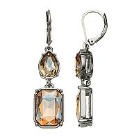 Simply Vera Vera Wang Nickel Free Brown Stone Double Drop Earrings