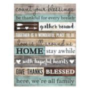 """Count Your Blessings"" Wall Art"