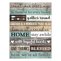 'Count Your Blessings' Wall Art