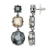 Simply Vera Vera Wang Nickel Free Graduated Geometric Stone Drop Earrings