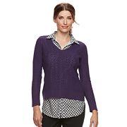 Women's Croft & Barrow® 2-Fer Sweater