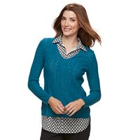 Women's Croft & Barrow® 2-Fer Sweater