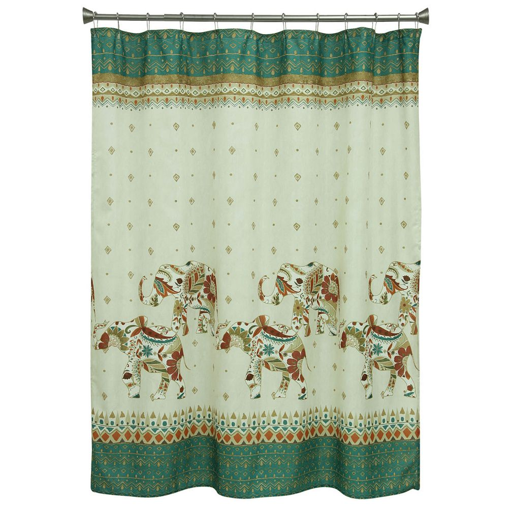 Bacova Boho Elephant Shower Curtain